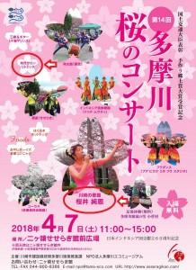 180407多摩川桜のコンサートチラシ